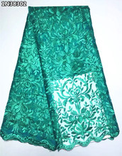 Embroidery Net African Lace Fabric For Wedding