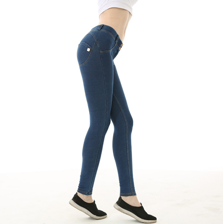 Спортивные брюки для йоги женские с высокой талией джинсовые персиковые бедра спортивные брюки красивые хип Спортивные штаны брюки - Цвет: Армейский зеленый