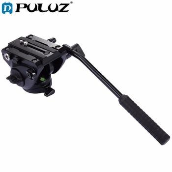 PULUZ Video Camera Tripod head Hydraulic Damping Fluid Drag Pan Head with Sliding Plate Panoramic Head for Slider Monopod DSLR