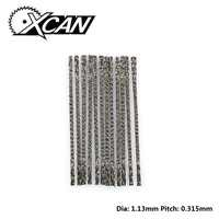 XCAN 144pcs Scroll Saw Blades Spiral Teeth Wood Curved Saw blades Width 6# for Sawing Tools
