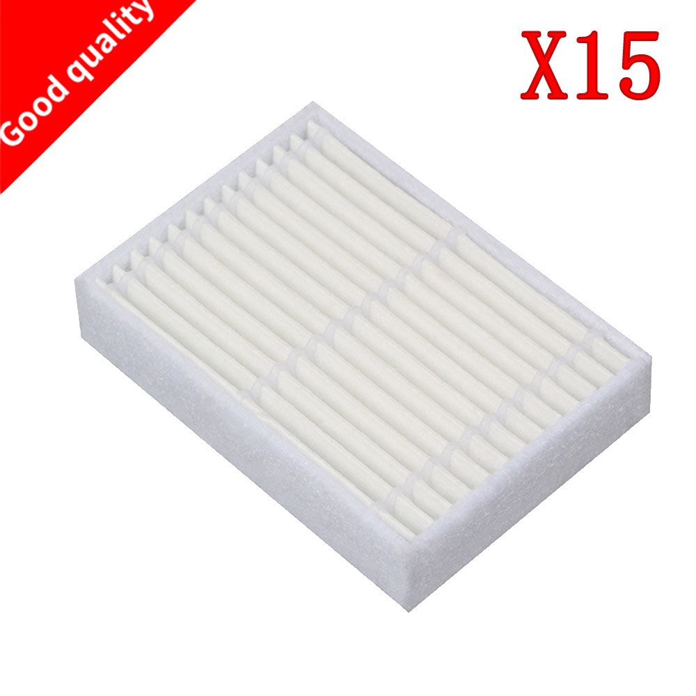 Bright 15pcs/lot High Quality Robot Vacuum Cleaner Parts Accessories Hepa Filter For Panda X600 Pet Kitfort Kt504 Robotic Cleaning Appliance Parts Home Appliances