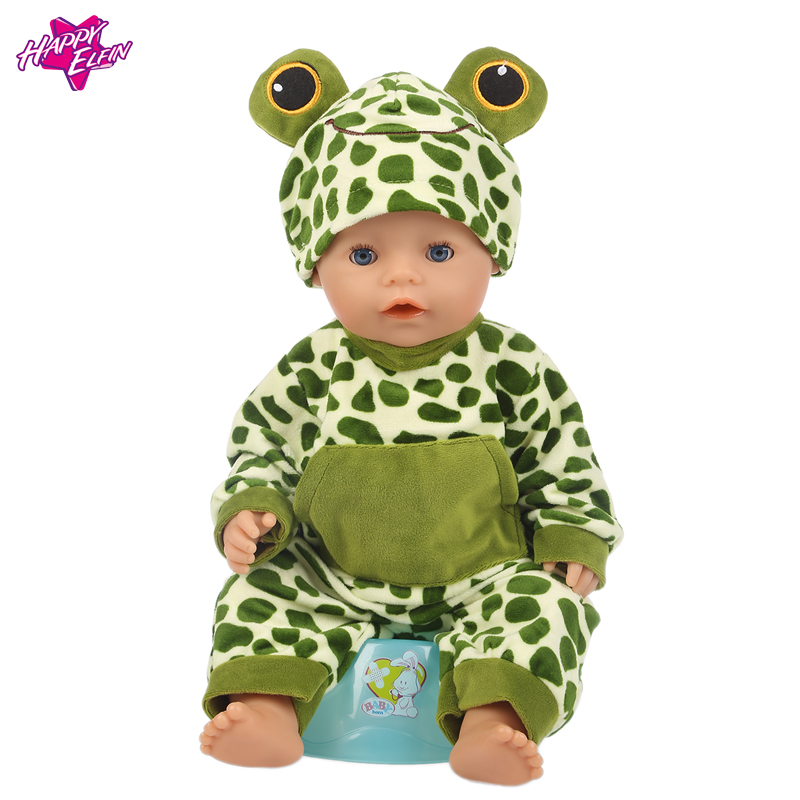 Baby-Born-Doll-Clothes-Fit-Zapf-Doll-Jumpsuit-Suit-with-cute-hat-Doll-Pajamas-sleeping-clothes-18inch-Children-Birthday-Gifts-5