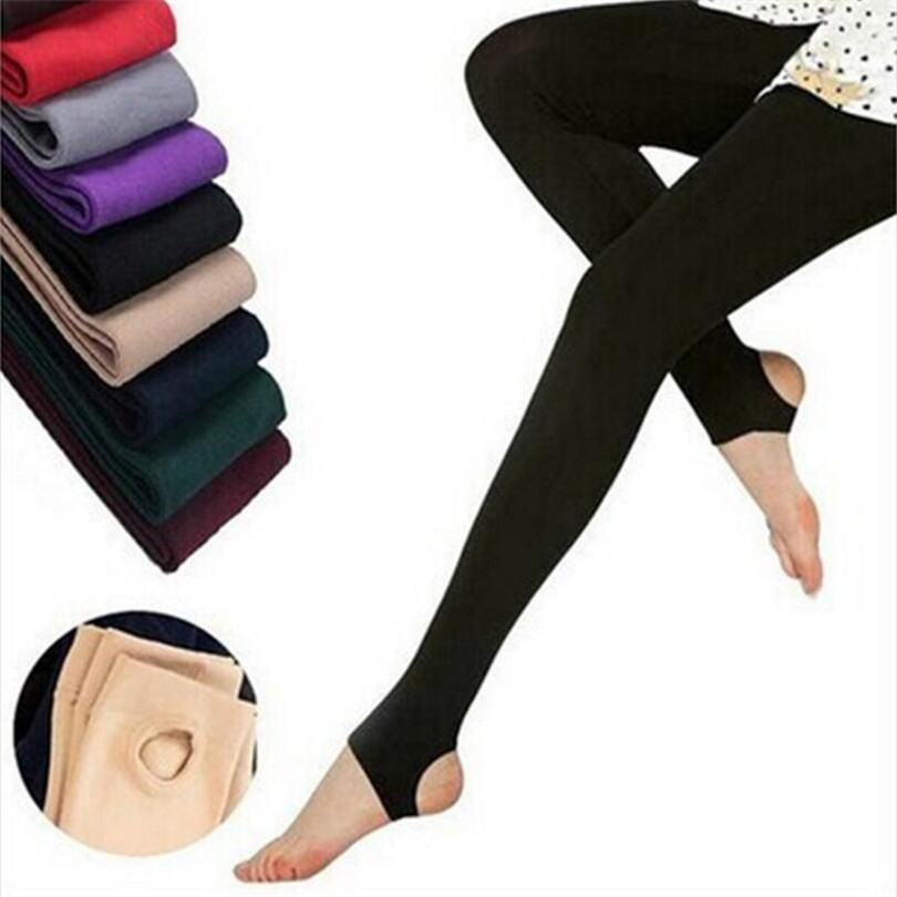 YRRETY Leggins Women Solid-Pants Velvet Knitted Faux Warm Thick Winter Casual New-Fashion