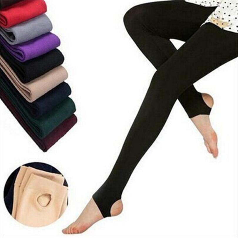 YRRETY 2020 New Fashion Casual Warm Faux Velvet Winter Leggins Women Leggings Knitted Thick Slim Women Legins Woman Solid Pants