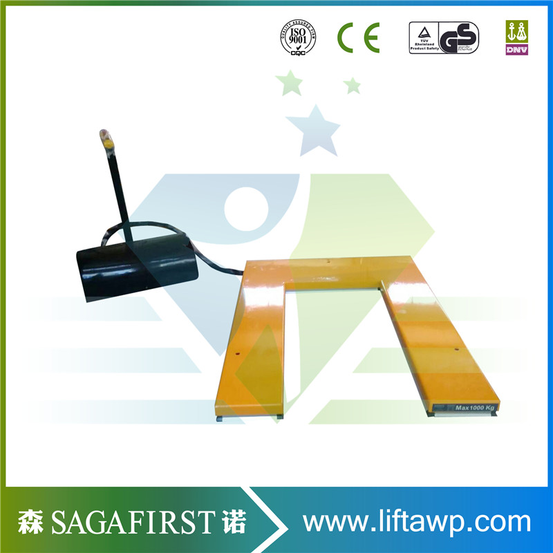 Driven By The Electric And Hydraulic System U Shape Scissor Lift Tables