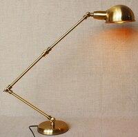 Металлический регулируемый Лофт Стиль Industrail Винтаж LED Настольная лампа простая настольная лампа для кафе кабинет бар свет Luminaria де меса