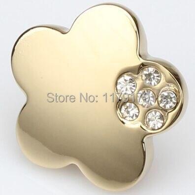 diamond drawer pull  knob glass crystal kitchen cabinet kob handle bright gold dresser cupboard furniture knob pull handle 86-G