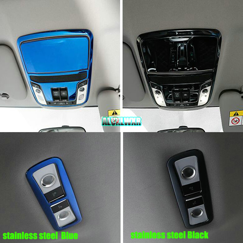 Car Reading Light Cover Trim Decoration Strips Interior Roof Lamp Frames Auto Accessories For