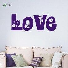 YOYOYU Wall Decal Love Decorative Flowers Vinyl Sticker Teenagers Lovely Living Room Decoration YO140