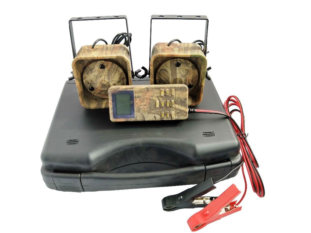 PDDHKK Camouflage Outdoor Bird Caller Hunting Decoy 2x50W Brid Voice Loud Speaker Goose Duck 200 Bird Sounds Timer ON/OFF