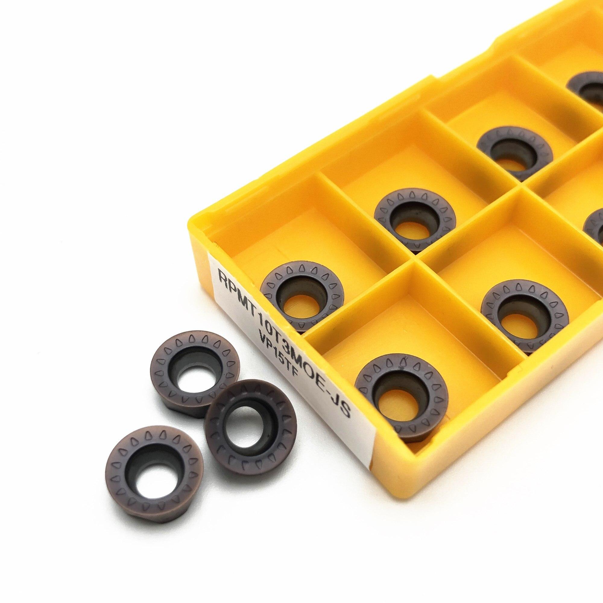 10PCS Lathe Tool RPMT10T3MOE JS VP15TF High Quality Internal Round Carbide Insert RPMT 10T3CNC Metal Turning Insert Milling Inse