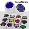 1pcsGel Nail Paint Polish Draw Painting Colors UV Bio Gel Long-lasting Glitter Soak Off 12 Colorful Nail Polish