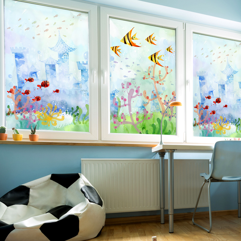 Home Decoratora: Static Cling Stained Glass Window Film Frosted & Opaque