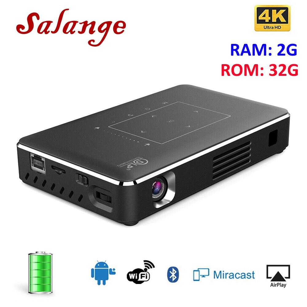 Projecteur DLP Salange 4 K Android WiFi Pico Support de projet DLNA HDMI 1080 P 350 ANSI USB Proyector pour Mac Windows pour iPhone