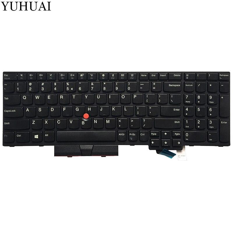 Original New For Lenovo IBM ThinkPad P51S T570 GR German Black Keyboard