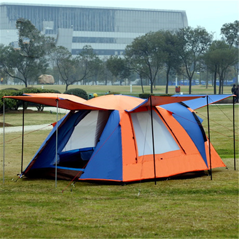 Image 2 - Samcamel 3 4 Person Large Family Tent Camping Tent Sun Shelter Gazebo Beach Tent Tente Camping Awning Advertising/exhibition-in Tents from Sports & Entertainment