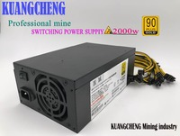 2000W psu Ant S7 A6 A7 S7 S9 L3 BTC miner machine server mining board power supply At the same time work two L3 + 10 baikal