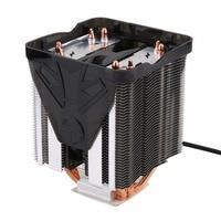 순수 구리 네 열 파이프 세 팬 CPU 쿨러 히트 싱크 AMD FM2 FM1 바닥 CTT 공정 강조 DIY 성격