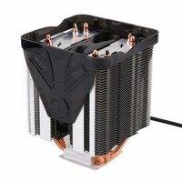Pure Copper Four Heat Pipe Three Fan CPU Cooler Heatsink For AMD FM2 FM1 Bottom CTT