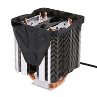 Pure Copper Four Heat Pipe Three Fan CPU Cooler Heatsink For AMD FM2 FM1 Bottom CTT