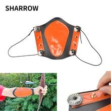 1 unidad de protector de brazo de piel de vaca gruesa elasticidad ajustable brazo de Tiro con Arco profesional equipo de protección de seguridad