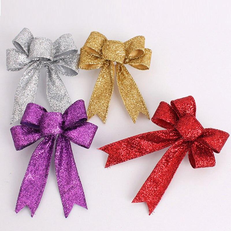 Pretty bowknot elegante bowknots navidad adorno del árbol de navidad decoración