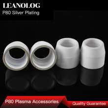10pcs The 80 100 Amps Plasma Cutter's Accessories and Consumables Silver  Ceramic Cups of p80 Plasma Cutting Gun and Torch