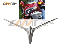 ABS Plastic Chrome Fairing Eyebrow Accent Case For Honda GL1800 Goldwing 2012 2015 13 14