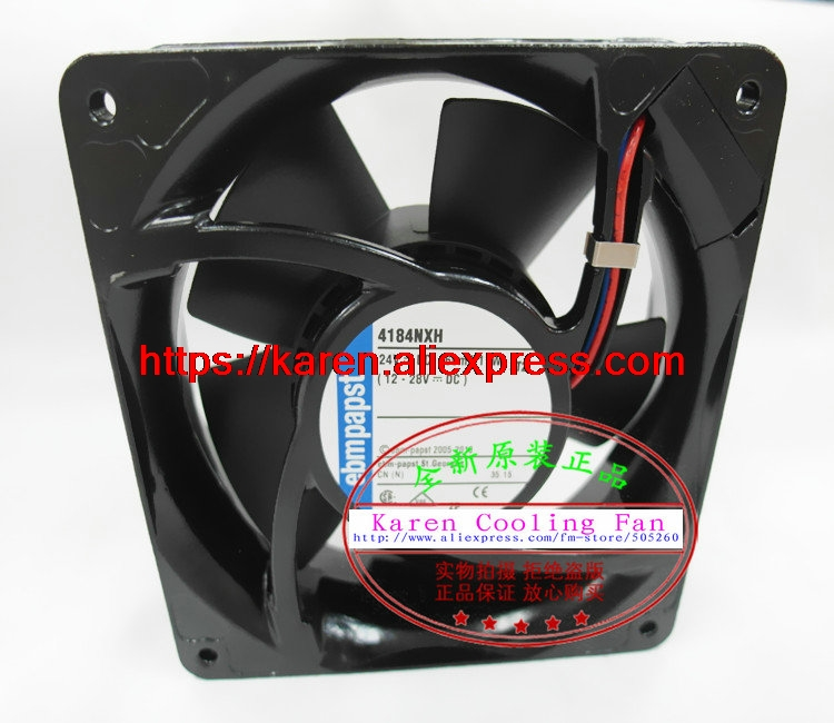 цены New Original EBM PAPST 4184NXH DC24V 460mA 11W 120*120*38MM 12cm high temperature resistant cooling fan
