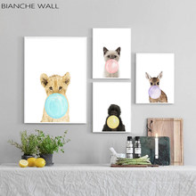 BIANCHE WALL Baby Animal Zebra Girafe Canvas Poster Nursery Wall Art Print Painting Nordic Picture Children Bedroom Decoration(China)