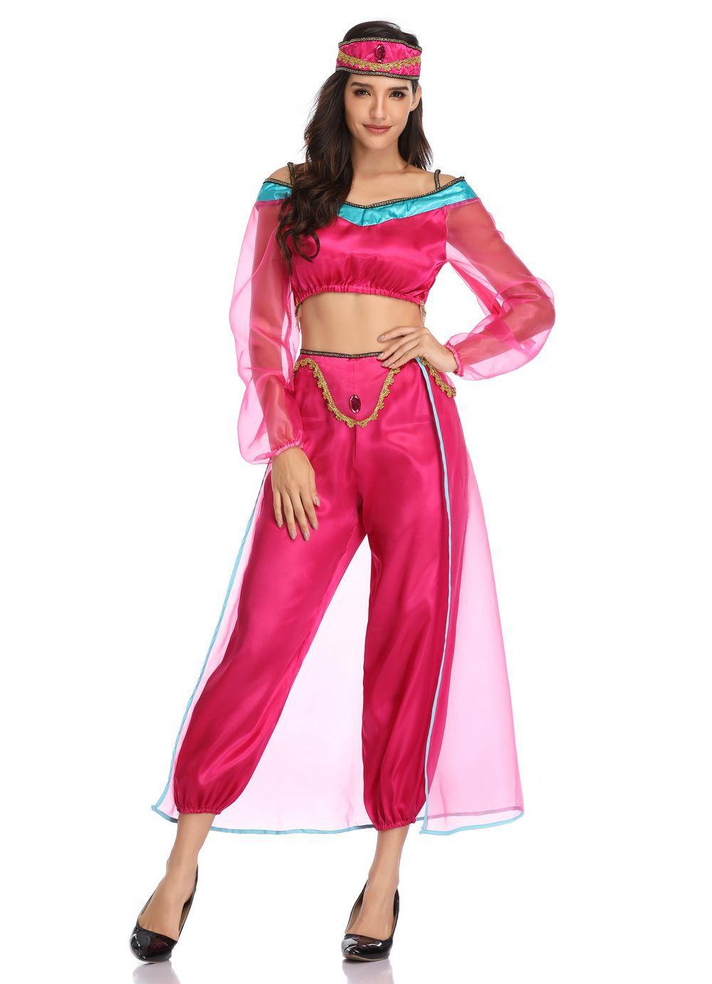 Aladdin Sexy movie aladdin costume sexy jasmine princess dress women girl