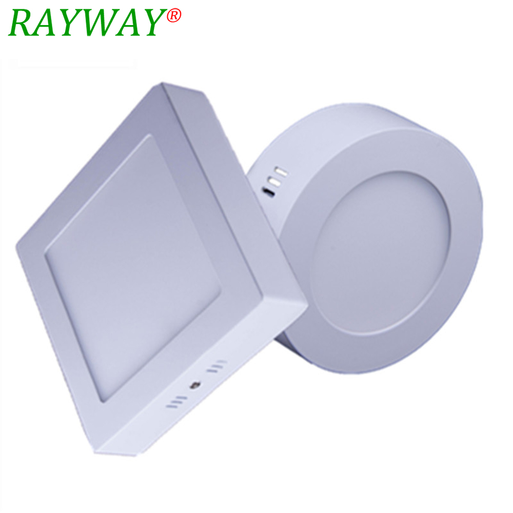 RAYWAY New 6W 12W 18W Round and Square Led Panel Light Surface Mounted Downlight lighting Modern LED Ceiling Lamp for home