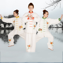 Chinese Kung Fu Tai Chi Uniform Spring Autumn Long Sleeve Traditional embroidered Tang Suit sets Shirt Pants for Men Women chinese tai chi clothing taiji performance garment kungfu uniform embroidered outfit for men women boy girl kids children adults