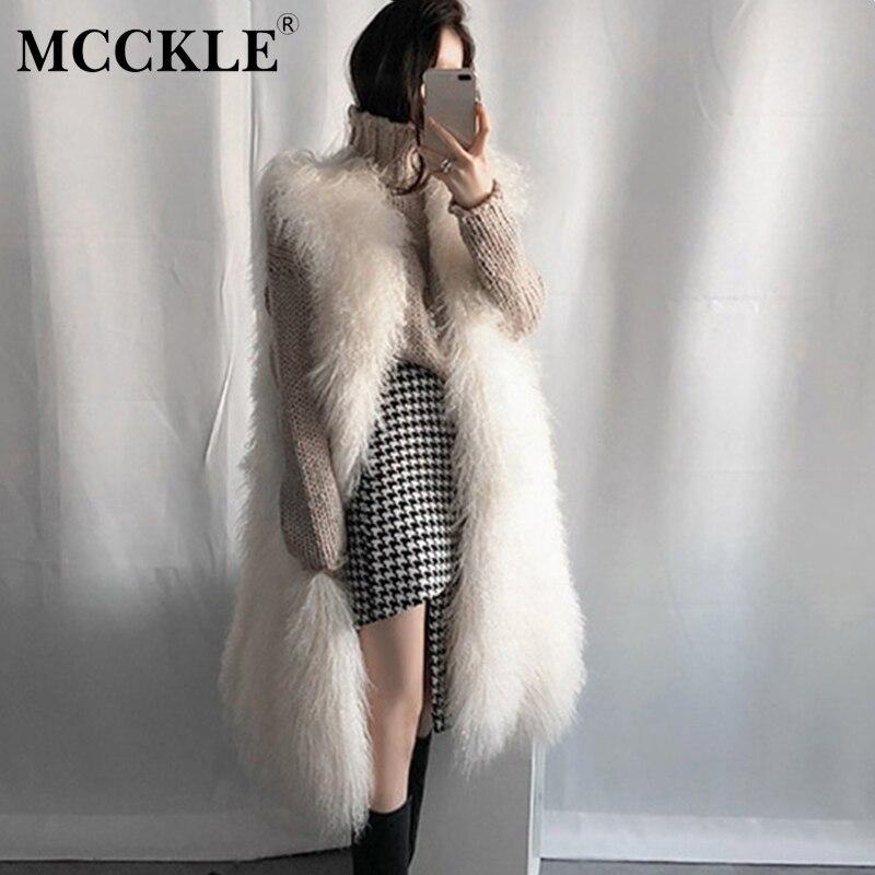 Womens Faux Fur Vest Fluffy Sleeveless Soft Fashion Winter