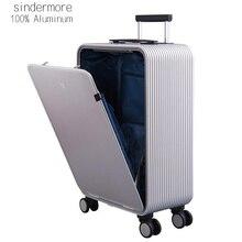 """Sindermore 100% Алюминий Hardside путешествия Чемодан чемодан 20 """"Carry On Чемодан cabin trolley чемодан Алюминий чемодан"""