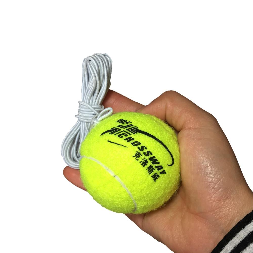 2 Pcs Professional Beginner Training Practice Rebound Tennis Ball With 3.8m Elastic Rope Rubber Ball Training Machine