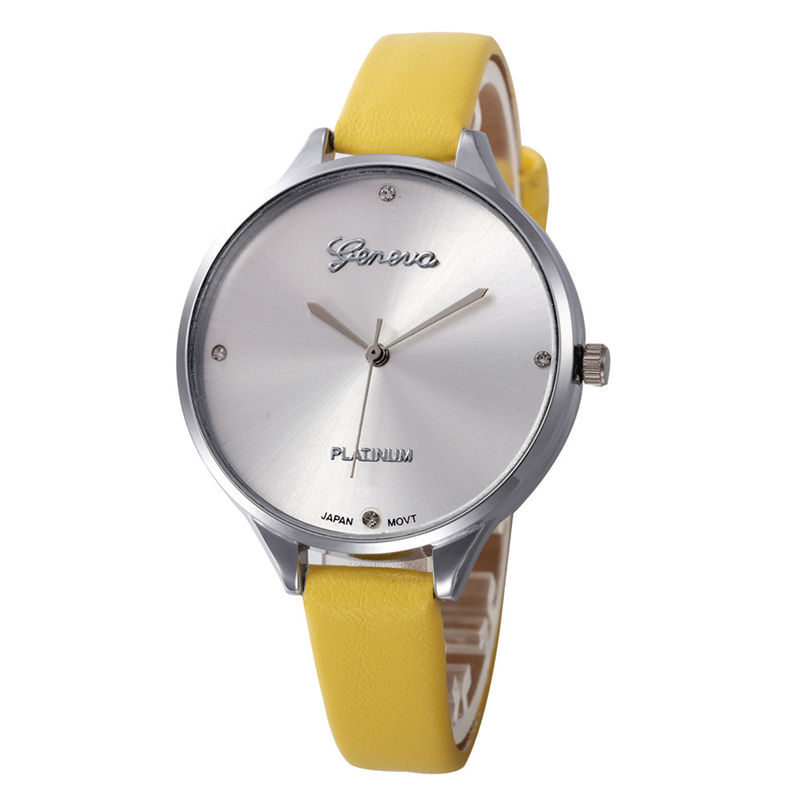 Wholesale Hot Sale Leather Strap Women Quartz Watch Fashion Ladies Watch Casual Geneva Watches For Boy Girl Christmas Gift Party 2016 hot fashion diamond watches women leather strap watches sand belt women dress watches women watch wholesale gogo