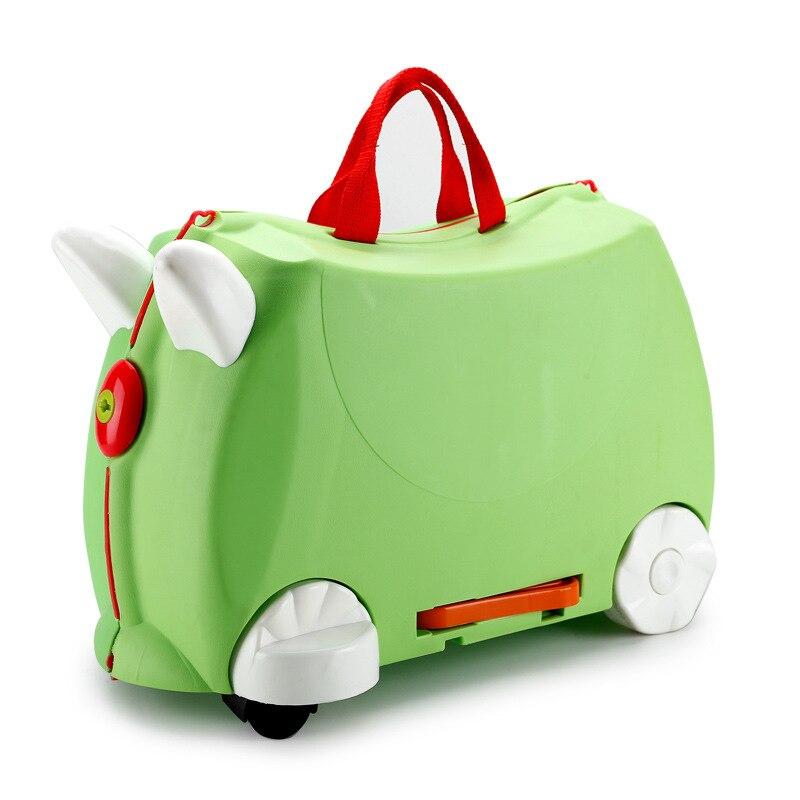 Boîte à jouets pour bébé valise à bagages mallette de rangement boîtes à tringle à tirer peuvent s'asseoir jouet de meubles