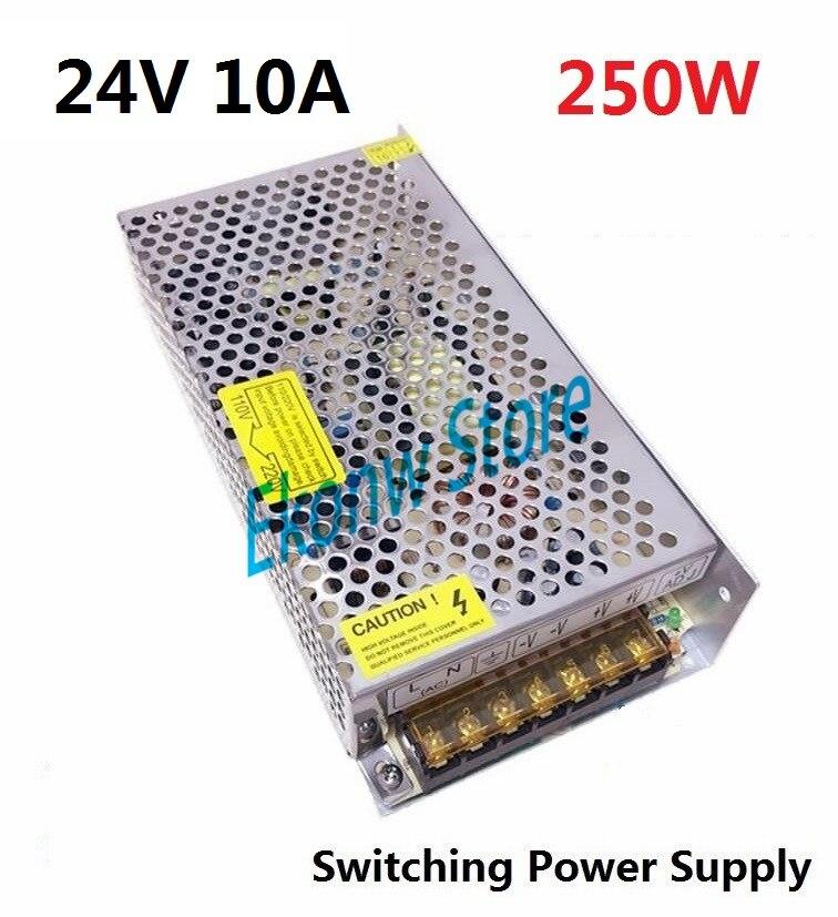 250W 24V 10A Switching Power Supply Factory Outlet SMPS Driver AC110-220V DC24V Transformer for LED Strip Light Module Display ac dc 120v 220v to 5v module smps ac dc led strip light voltage regulator 5v led driver ce switching 200w power supply 5 v 40a