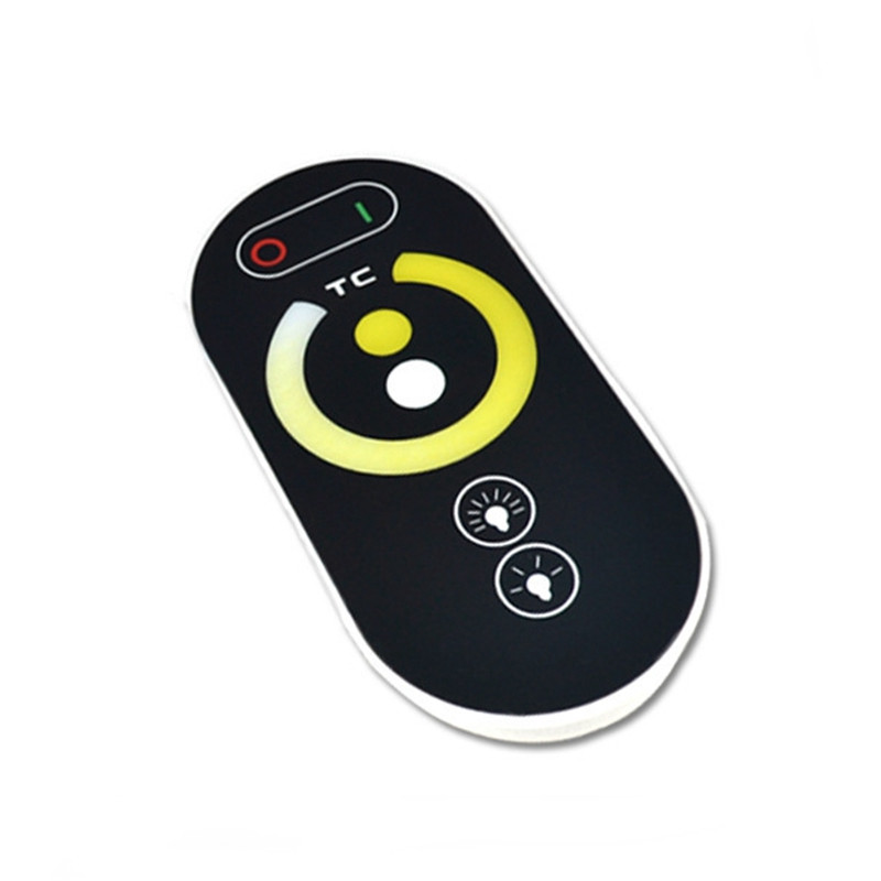 DC12-24V 6A 2CH RF Wireless LED Controller with Touch Remote for Single Color LED Strip Light Channel RJ45 Synchronous