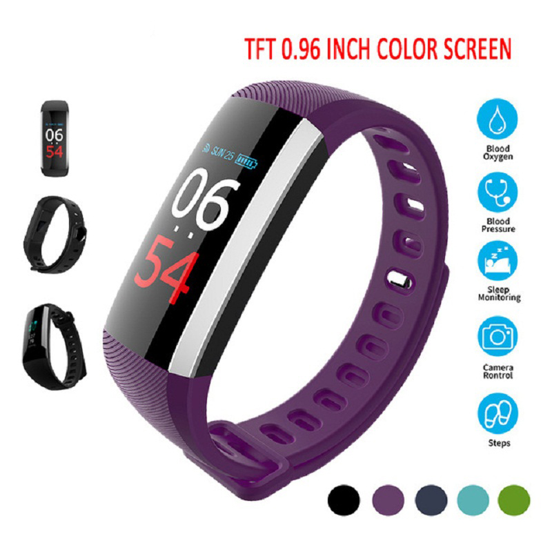 HEINO R19 Heart Rate Monitor Smart Bracelet Fitness Tracker with Blood Pressure Monitor Bluetooth Wireless Smart Wristband