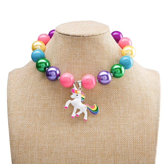 Unicorn Bubblegum Bead Necklace