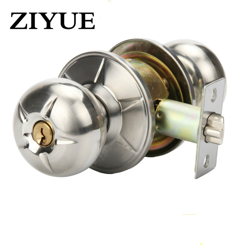 Free Shipping The Indoor Door Knob Lock Bedroom Bathroom Door General Wuxing Stainless Steel Ball Copper Lock Core ceramic lock the door when indoor european ball lock hold hand lock copper core s 008