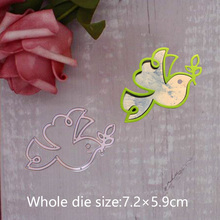 Peace Dove Olive Branch Metal Steel Cutting Embossing Dies For Scrapbooking paper craft home decoration Craft 7.2*5.9 cm