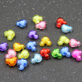 Free Shipping Wholesale mixed acrylic beads mickey design 22mm*18.5mm Shining chunky beads for jewelry making  50pcs