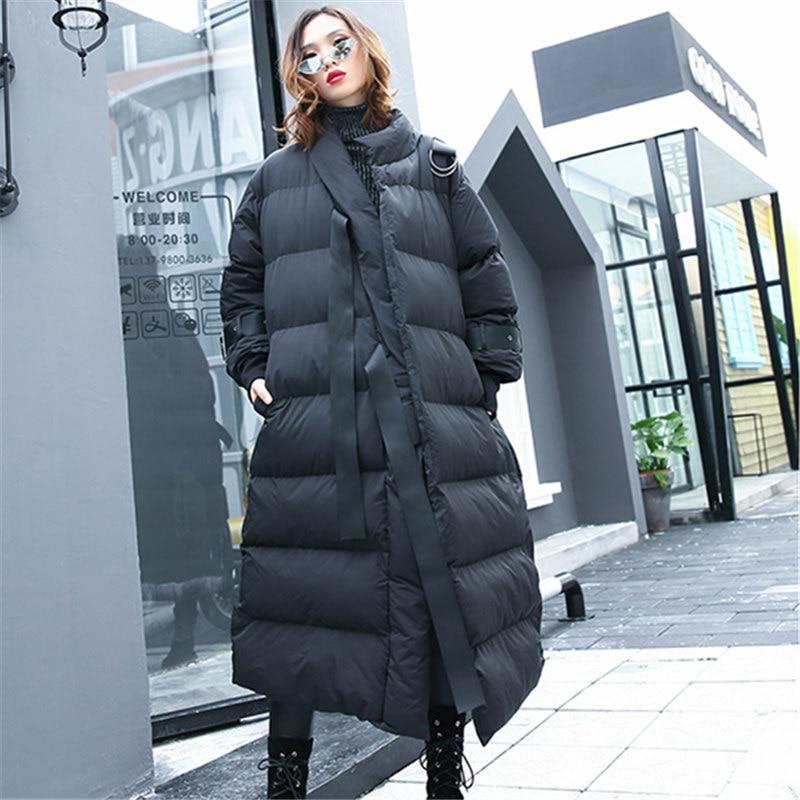 Il Allentato Formato Addensare Vestiti Dei Delle Del Cappotto Lq486 Caldo Nuovo Parka Black Donne Giacca Inverno Lungo Di Streetwear Cotone Più 4Fn5w5
