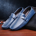 2015 men shoes Moccasins men genuine leather shoes fashion breathable casual summer dawdler leather shoes flats free shipping