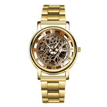 hot deal buy fashion alloy mens analog quarts watches steel strip hollow men wrist watch 2018 mens watches top brand luxury casual clock