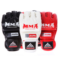 New hot Artificial leather adult male MMA Muay Thai Gym Punching Bag Half Mitt Train Sparring Kick Boxing Gloves Extension Wrist