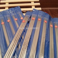 Free Shipping 44pcs Set Double Stainless Steel Straight Knitting Needles Set 25CM Size 6 16